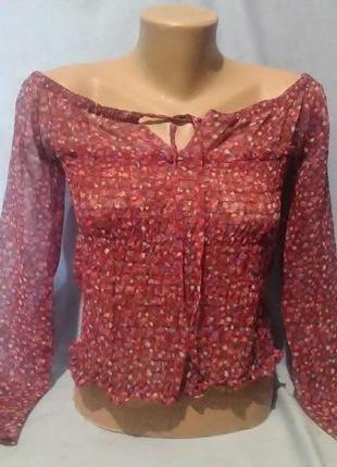 Штфоновая кофта,блуза (возможен обмен)