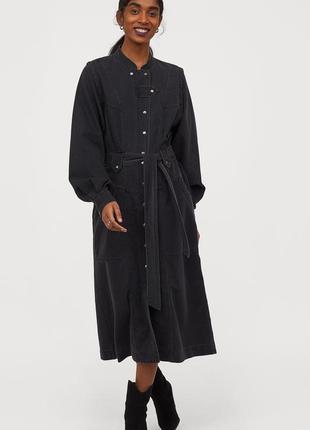 Новое джинсовое платье-рубашка h&m