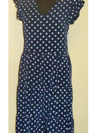Воздушное , легкое , натуральное платье , италия , р. 46 - 50
