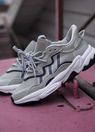 Adidas ozweego grey three / ash silver (кроссовки серые адидас)