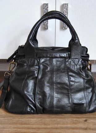 Кожаная сумка кроссбоди betty jackson / шкіряна сумка