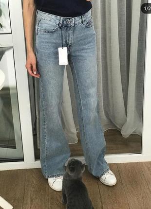 Джинсы клёш джинсы манго актуальные джинсы широкие джинсы