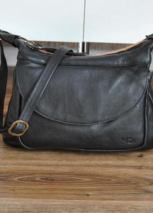 Кожаная сумка кроссбоди mia / шкіряна сумка