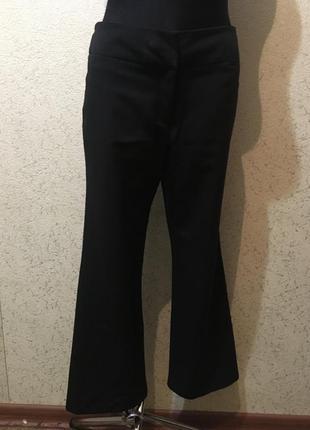 Женские полиэстерные штаны брюки классические чёрные клёш