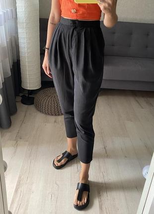 Базовые брюки/штаны с защипами со льном и лиоцеллом river island