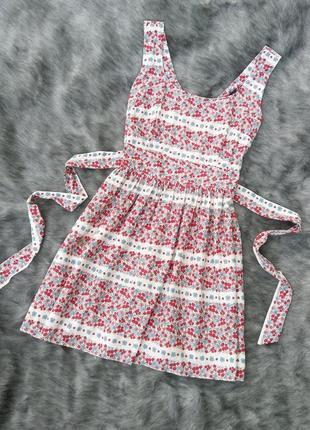Хлопковое платье в цветочек dorothy perkins