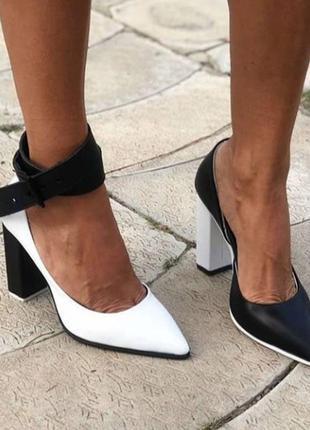 Ексклюзивные кожанные туфельки с элегантным ремешком