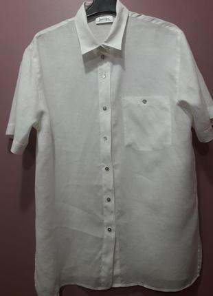 Рубашка белого цвета-лен