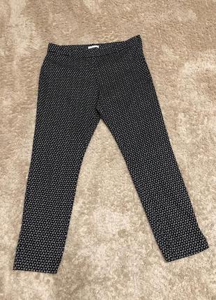 Штани чорно-білі, розмір л