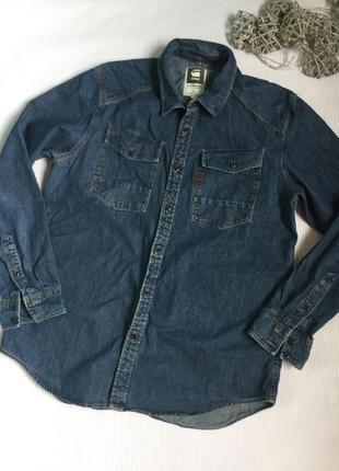 Крутая  джинсовая рубашка g-star raw