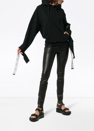 Inwear штаны натуральная кожа стрейчевые леггинсы кожа