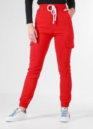 Спортивные штаны джогеры с карманами