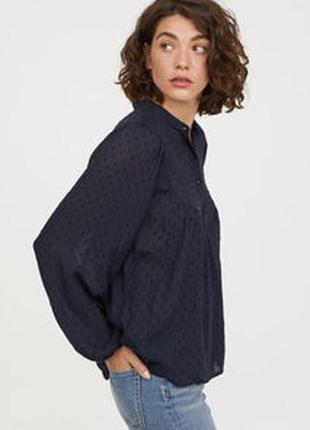 Стильная блузка с вышивкой плюмети