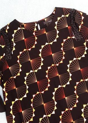 Блуза с рюшами и кружевом next