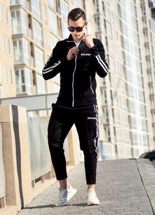 Мужской спортивный костюм комплект олимпийка и штаны брюки palm angels