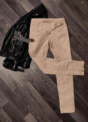 Новые джинсы скини calvin klein бежевые песочные