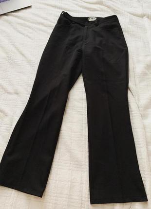 Брюки класичні, чорні брюки жіночі, прямі брюки, жіночі штани