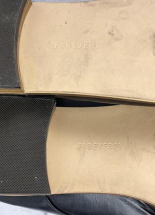Туфли стильные forever 21, черные6 фото