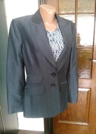 Серый классический брючный костюм
