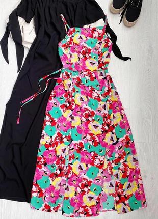 Яркий сарафан платье  в цветы от primark