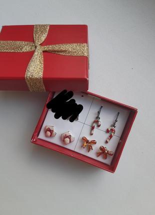 Набор сережек под рождество