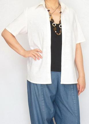 Блузка, рубашка, nipuna, италия. лен.
