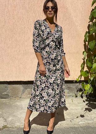 Необыкновенное платье макси с цветочным рисунком