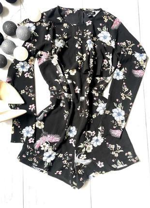 Стильный ромпер комбинезон в цветочный принт amisu