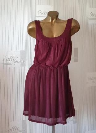 Виннле вишневое платье марсала