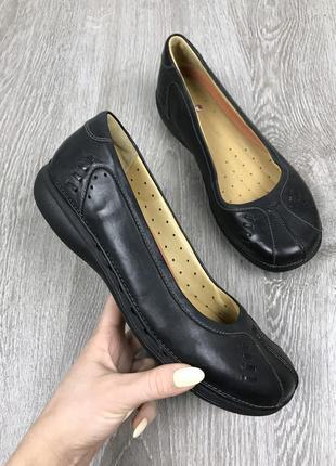 Шикарные и очень удобные кожаные туфельки