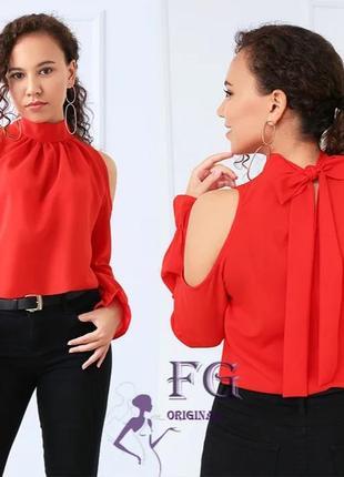 Шифоновая блуза с бантом