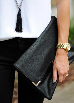 Клатч-конверт accessorize черный стильный