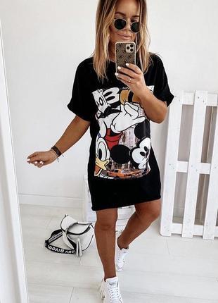 Крутое платье-футболка в наличии