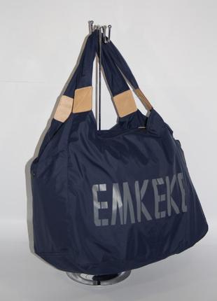 Спортивная, дорожная, пляжная сумка emkeke 915 темно-синяя, расцветки