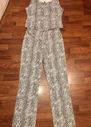 Оригинальный костюм брюки + топ на высокую девушку /рептилия/ франция 🇫🇷