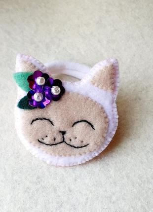 Резинка для волос - кошка