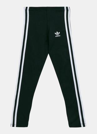 Adidas черные трикотажные лосины оригинал