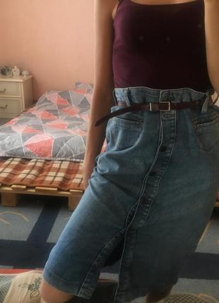 Супер джинсовая юбка aline skirt
