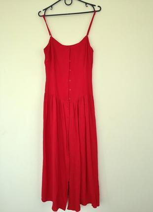 Красный сарафан платье на бретельках h&m