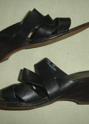 Фирменные timbarlend оригинал кожаные босоножки сабо в идеале
