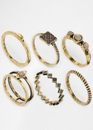 Набір перстенів asos (26450)