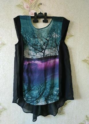 Лёгкая летняя шифоновая блузка # женская блузка # george