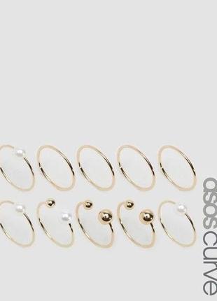Набір перстенів asos (26439)