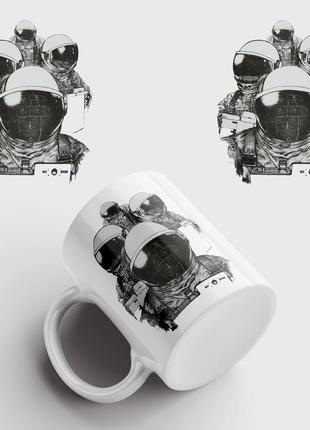 Кружка с принтом астронавты. astronauts, spaceman