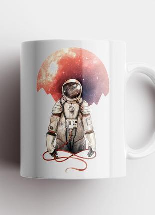Кружка с принтом астронавт