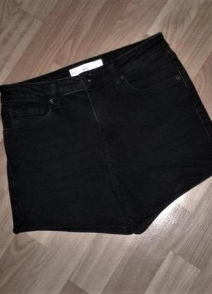 Джинсовые шорты черные topshop