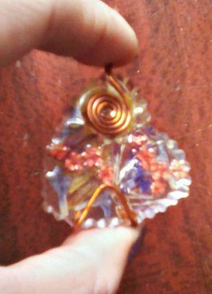 Кулон в форме сердца(двухсторонний)