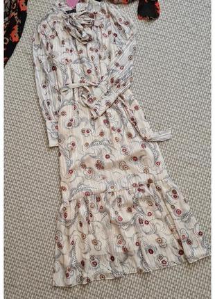 Шикарное длинное платье marks&spencer/с принтом/платье в пол