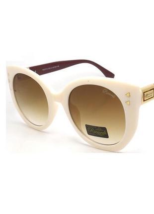 Женские солнцезащитные очки бабочка белая оправа