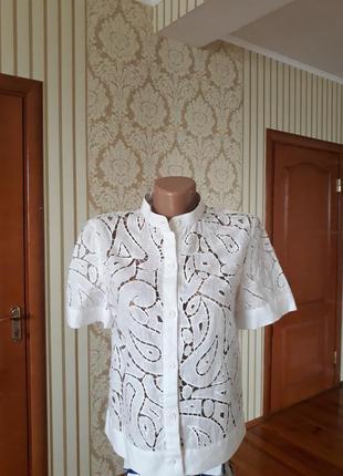 Шикарная блуза пиджак кружево решилье винтажная